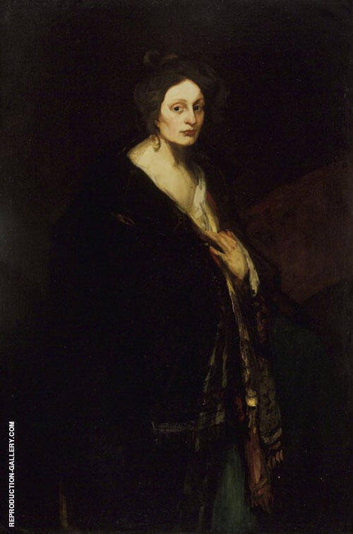 Woman In Manteau 1898 Painting By Robert Henri - Reproduction Gallery