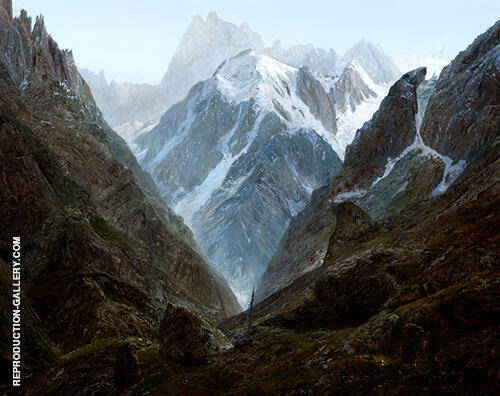 High Mountains 1824 By Caspar David Friedrich