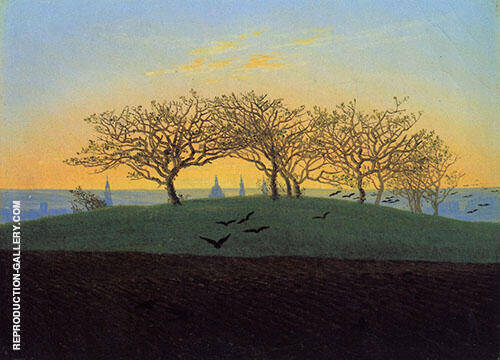 Hill and Ploughed Field near Dresden 1824 Painting By ...
