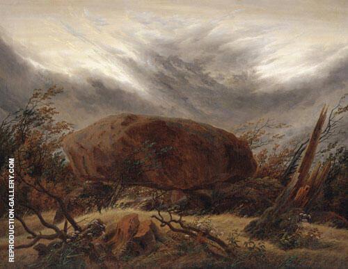 Huenengrab im Herbst By Caspar David Friedrich
