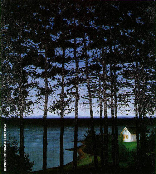 Fisherman's Cottage 1906 By Harald Sohlberg