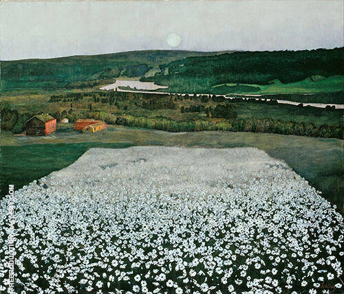 Flower Meadow in the North 1905 By Harald Sohlberg
