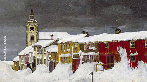 Winter After Snowstorm 1903 By Harald Sohlberg