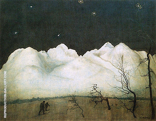 Winter Night in the Mountains 1911 By Harald Sohlberg
