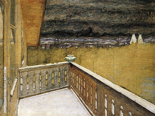 Winter on the Balcony By Harald Sohlberg