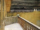 Winter on the Balcony By Harald Sohlberg