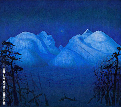 Winter Night in the Mountains 1914 By Harald Sohlberg