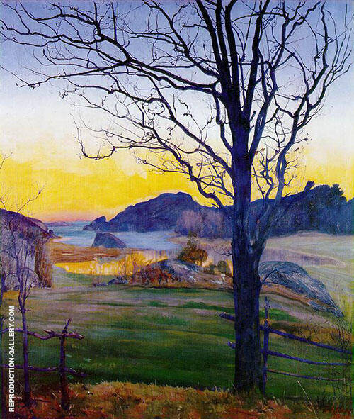 Autumn Landscape 1910 Painting By Harald Sohlberg - Reproduction Gallery