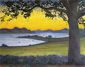 View from Vaervagen- The Fisherman's Cottage 1911 By Harald Sohlberg