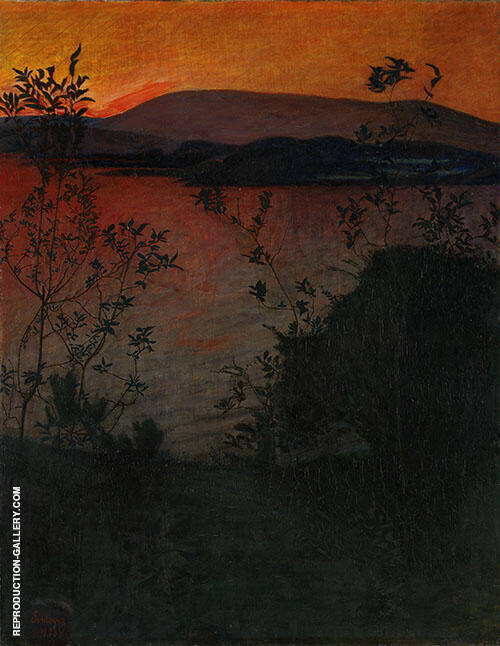 Night Glow 1893 By Harald Sohlberg