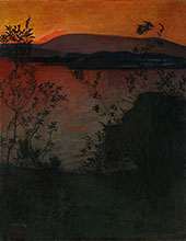 Night Glow 1893 By Harald Sohlberg