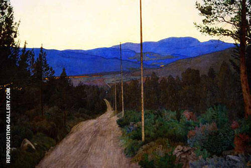Country Road 1905 By Harald Sohlberg