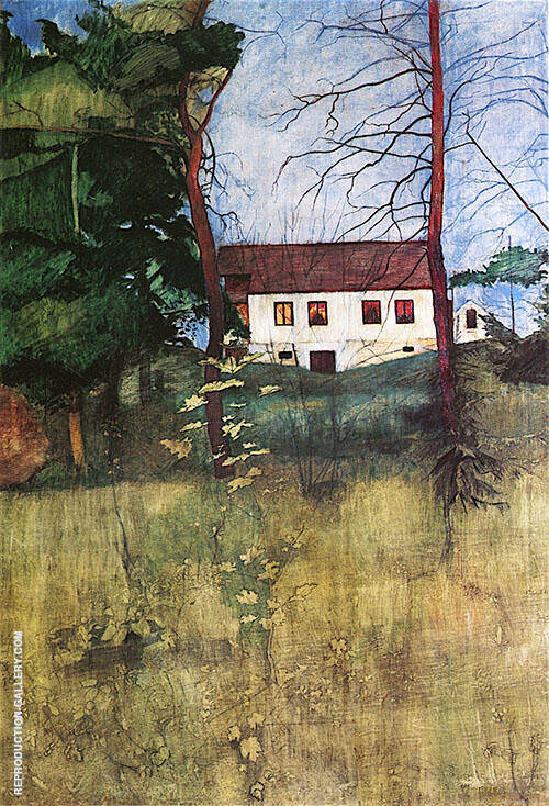 Country House 1896 Painting By Harald Sohlberg - Reproduction Gallery
