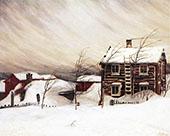 Drifting Snow 1905 By Harald Sohlberg