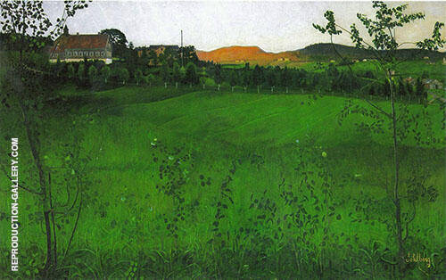 Ripe Fields Painting By Harald Sohlberg - Reproduction Gallery