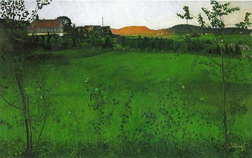 Ripe Fields By Harald Sohlberg