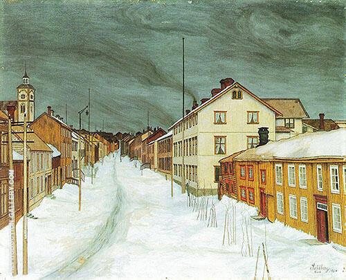 Storgaten Roros 1904 By Harald Sohlberg