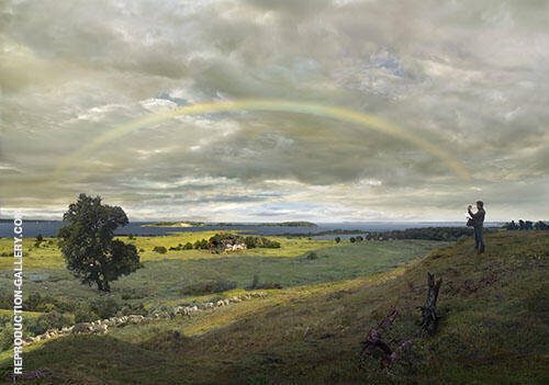 Landscape on Rugen with Rainbow 1830 By Caspar David Friedrich