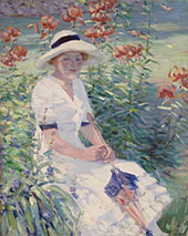 Lady with Parasol 1915 By Catherine Wiley
