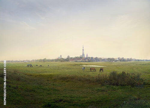 Meadows near Greifswald 1820 By Caspar David Friedrich
