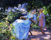 Mother and Daughter in a Garden By Catherine Wiley
