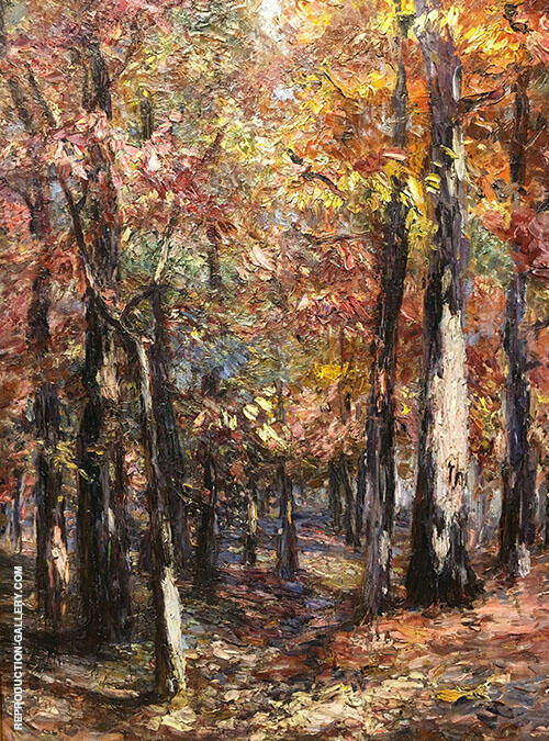 Woodland Scene 1920 Painting By Catherine Wiley - Reproduction Gallery