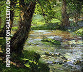 Woodland Stream Painting By Catherine Wiley - Reproduction Gallery