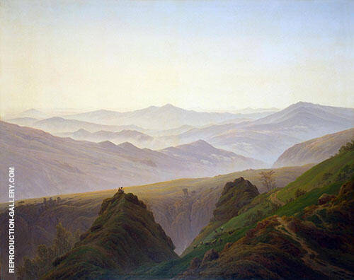 Morning in The Mountains 1823 Painting By Caspar David Friedrich
