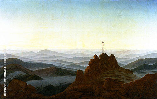 Morning in The Sudeten Mountains By Caspar David Friedrich