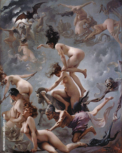 Faust's Vision - Witches on the Sabbath 1878 By Luis Ricardo Falero