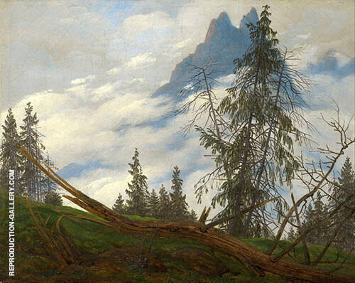 Mountain Peak Painting By Caspar David Friedrich - Reproduction Gallery