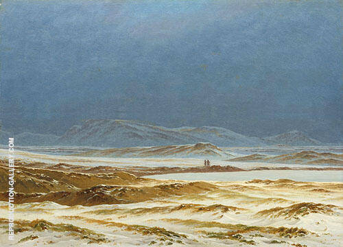 Northern Landscape Spring 1825 By Caspar David Friedrich