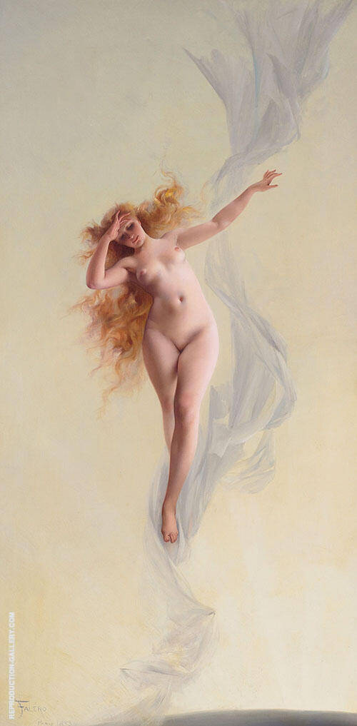 Dawn 1883 Painting By Luis Ricardo Falero - Reproduction Gallery