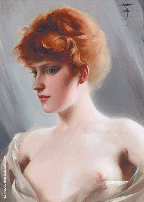 The Artist's Model By Luis Ricardo Falero