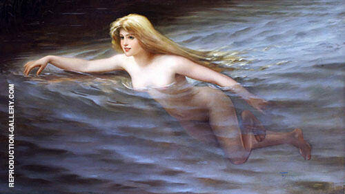 Sea Nymph 1892 Painting By Luis Ricardo Falero - Reproduction Gallery