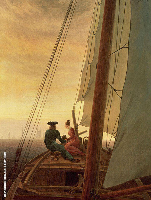 On Board A Sailing Ship 1818 By Caspar David Friedrich