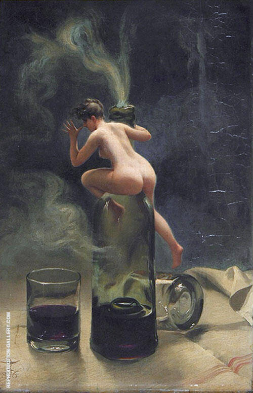 Le Vin Ginguet 1886 By Luis Ricardo Falero