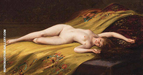 Female Reclining Nude1893 By Luis Ricardo Falero