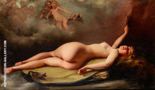 Female Reclining Nude1879 By Luis Ricardo Falero