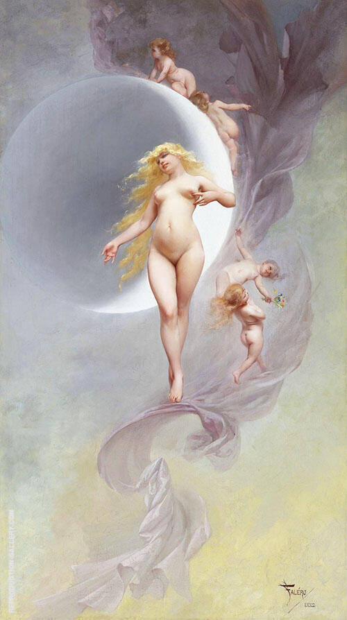 The Planet Venus 1882 By Luis Ricardo Falero