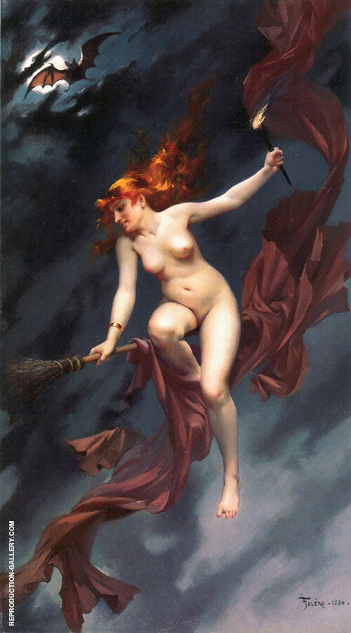 The Witches Sabbath 1880 Painting By Luis Ricardo Falero