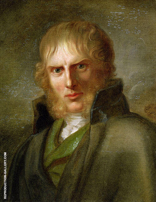 Portrait of Caspar David Friedrich 1810 By Caspar David Friedrich