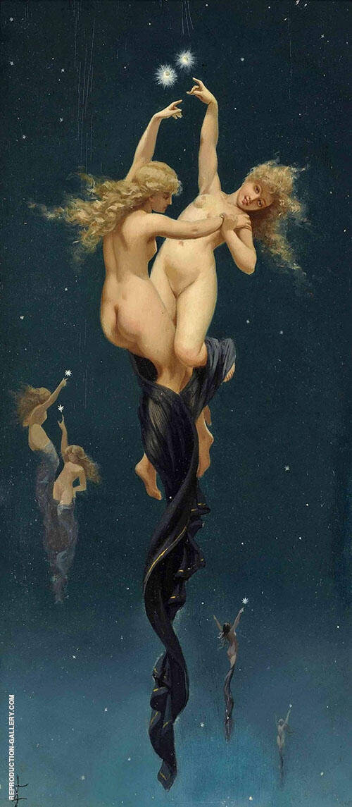 Twin Stars Painting By Luis Ricardo Falero - Reproduction Gallery