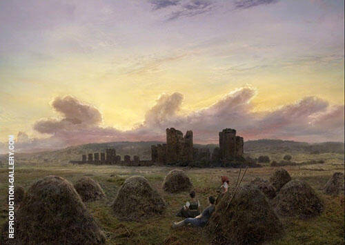 Rest at The Hay Hrvest 1835 By Caspar David Friedrich
