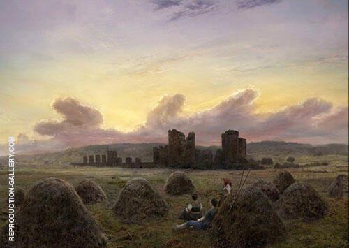 Rest at The Hay Hrvest 1835 Painting By Caspar David Friedrich