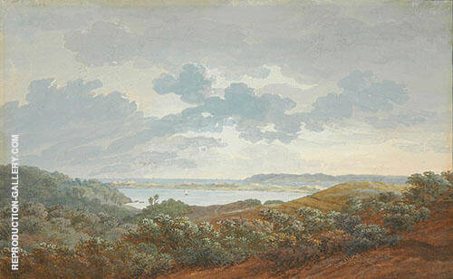 Rugen Landscape with Bay 1802 By Caspar David Friedrich