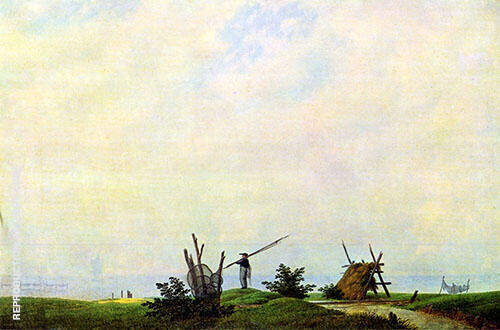 Seashore and Fisherman By Caspar David Friedrich