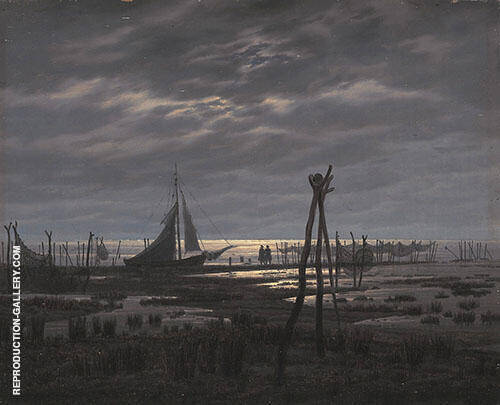 Sumpfiger Strand 1832 Painting By Caspar David Friedrich