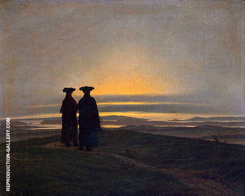 Sunset Brothers By Caspar David Friedrich