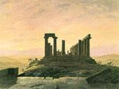 Temple of Juno in Agrigento 1828 By Caspar David Friedrich